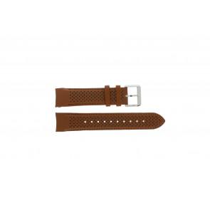 Hugo Boss klockarmband HB-188-1-14-2672 / HB1513118 Läder Konjak 22mm + sömmar brun