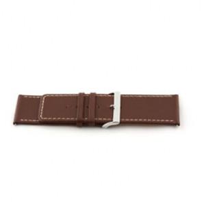 Klockarmband i äkta läder brunt 34mm EX-J43