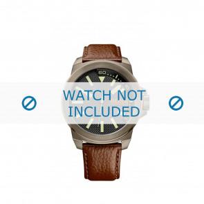 Hugo Boss klockarmband HB-238-1-34-2757 / 1513168 / Orange Läder Brun 24mm + sömmar brun