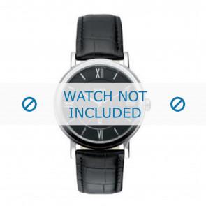 Hugo Boss klockarmband HB-24-1-14-2034 / HB1512093 / HB1512092 Läder Svart 20mm + sömmar svart