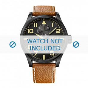 Hugo Boss klockarmband HB1513082 / HB-88-1-34-27 / HB-88-1-34-2733 Läder Konjak 24mm + sömmar vitt