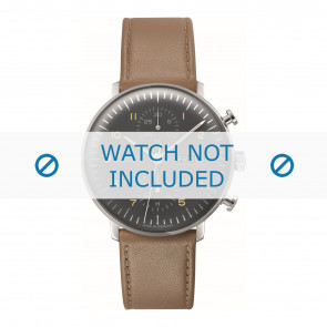 Junghans klockarmband 027/4501.01 Läder Brun 20mm + default sömmar