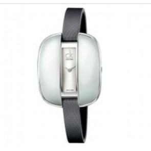 Calvin Klein klockarmband K2E236-K600000084 Läder Grå 9mm