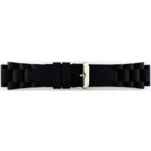 Klockarmband Gummi 20mm Svart EX K63 26 1 20