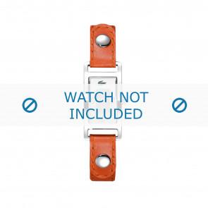 Lacoste klockarmband 2000385 / LC-05-3-14-0009 Läder Apelsin 12mm + sömmar vitt