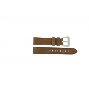 Max klockarmband BR / 20mm  Läder Brun 20mm + sömmar brun