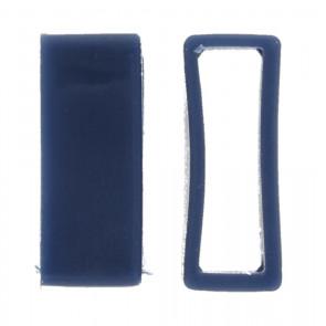 Watch strap keeper rubber blå 24mm