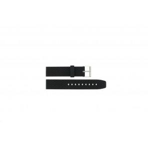 Klockarmband PU102 Gummi / plast Svart 20mm