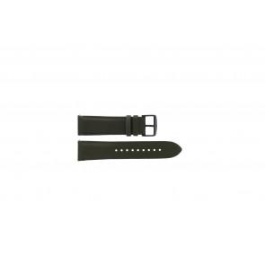Fossil (Smartwatches) klockarmband S221345 Läder Grönt 22mm