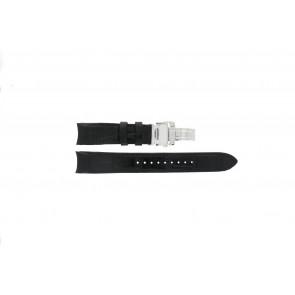 Seiko klockarmband 6G34-00E0 / 4A072JL / 5D22-0AA0 / 5M54-0AA0 / 7T86-0AA0 / 7L22-0AR0 / SRN005P1 / 7D56-0AA0 / SNP037P1 Läder Svart 21mm + sömmar svart