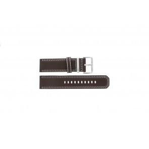 Seiko klockarmband 7T62-0HM0 Läder Brun 24mm