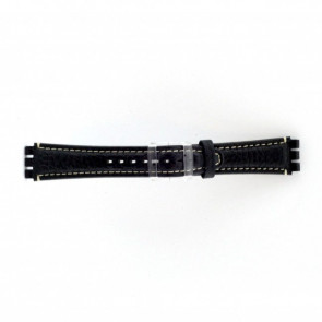 Klockarmband passande Swatch mörkblått / grijs 19mm  ES-3.05