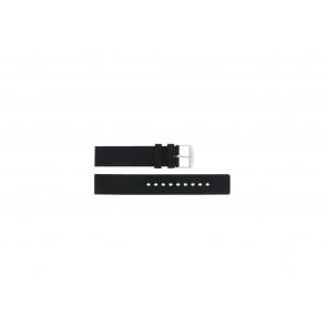Klockarmband 21901.01.18 / 6826 Silikon Svart 18mm
