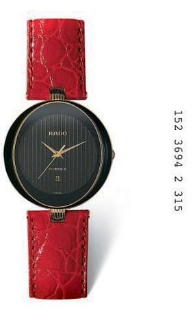 Klockarmband Rado 01.152.3694.2.315 Läder Röd 18mm