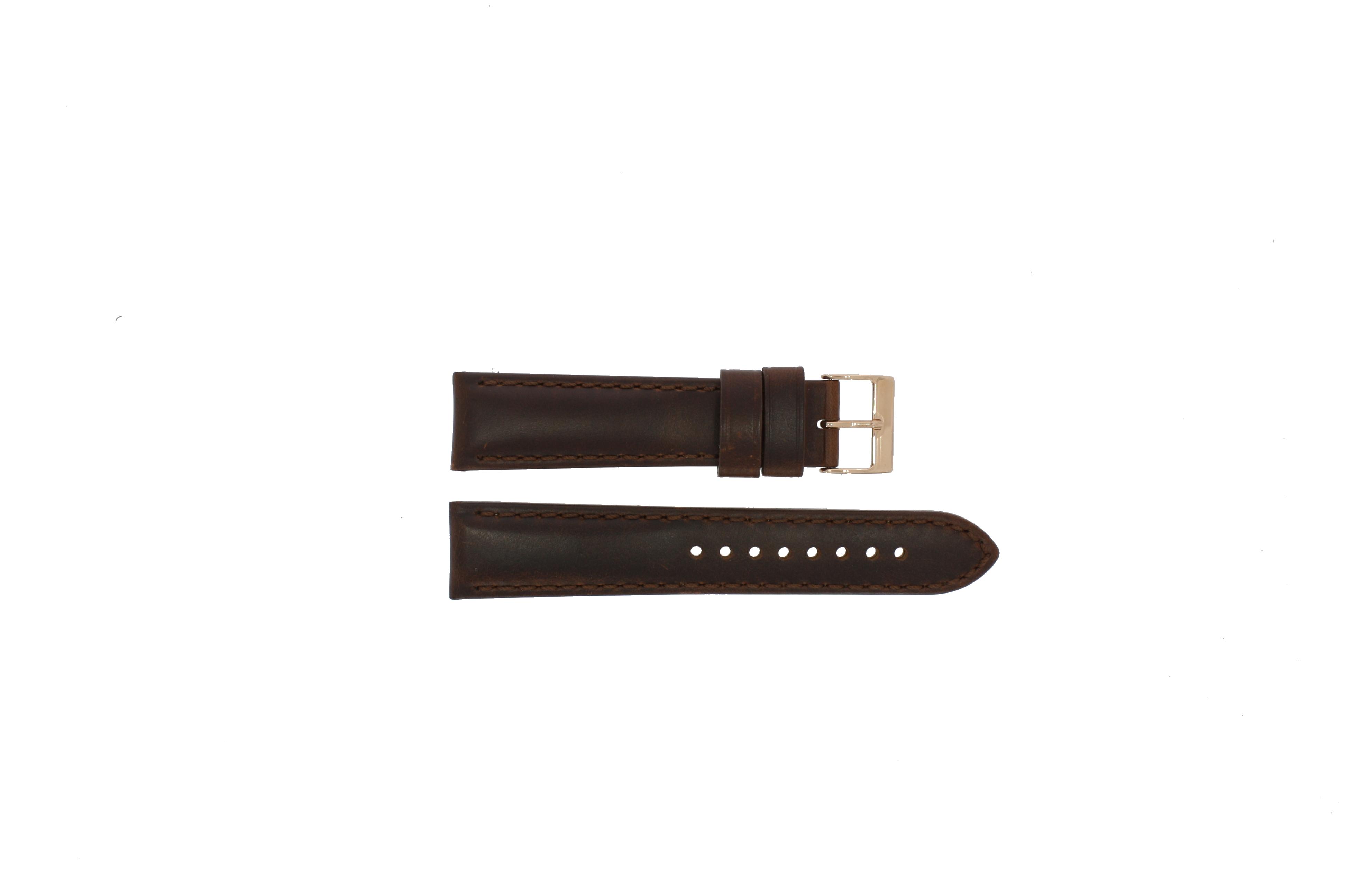 Daniel Wellington (replacement model) klockarmband 0106DW Läder Brun 20mm + sömmar brun