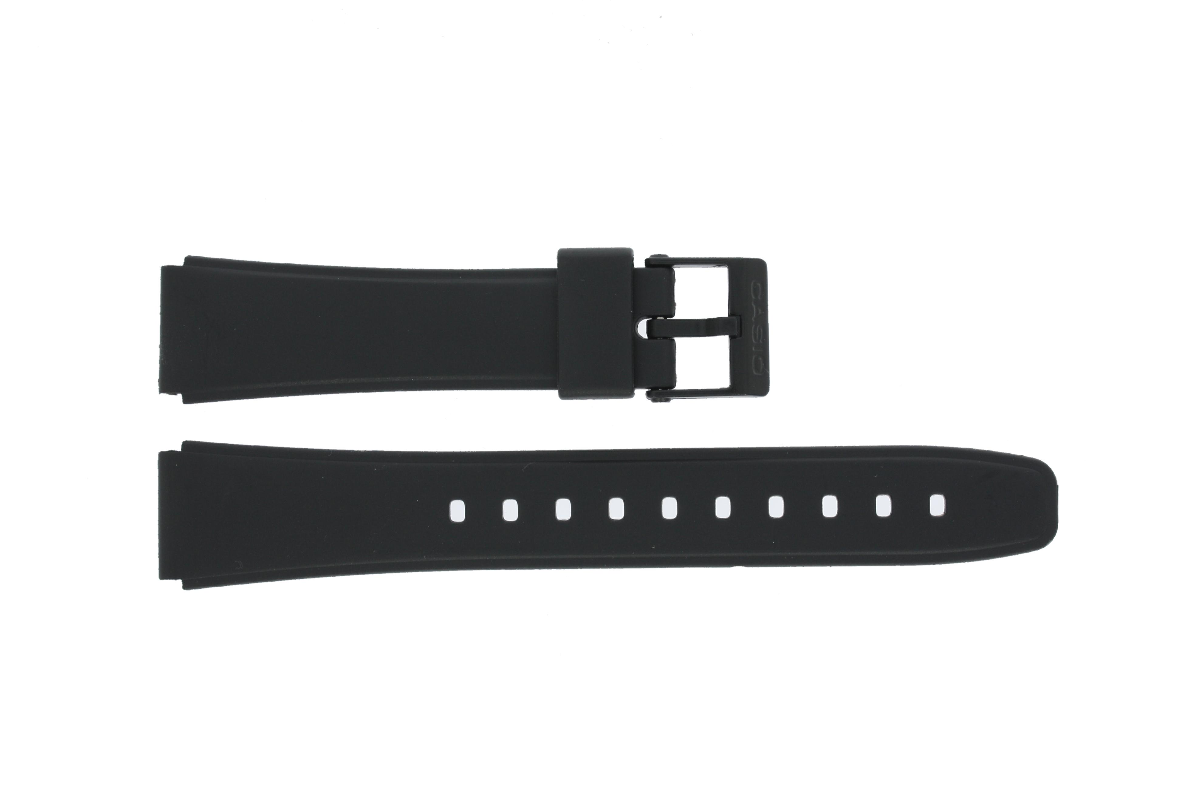 Casio klockarmband W-78-1 / W-79B-1AVQ /10222860 Silikon Svart 17mm