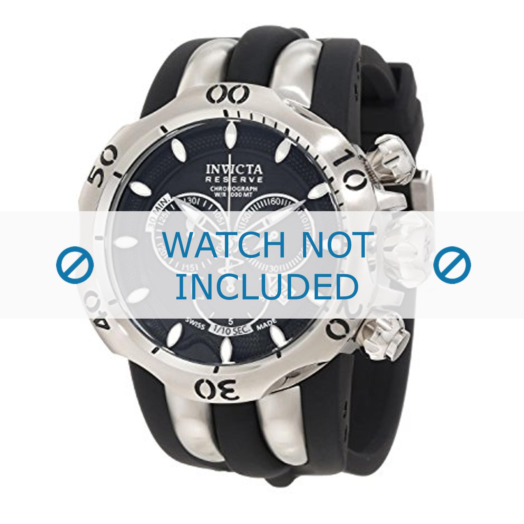Invicta klockarmband 10825 Silikon Svart