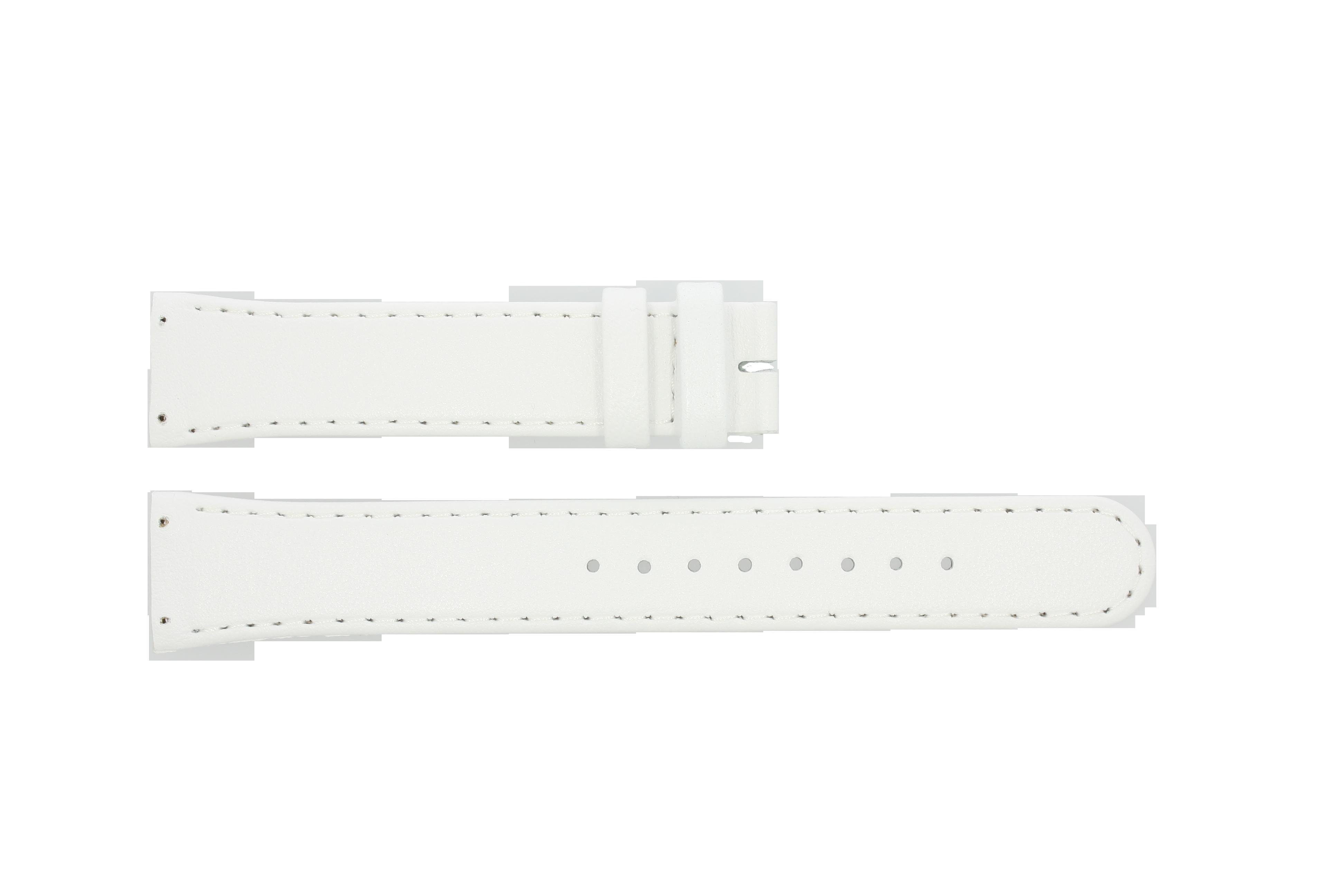 Boccia klockarmband BO3186-01-40W Läder Vit 19mm + default sömmar