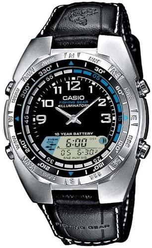 Klockarmband Casio 10198354 / AMW-700B-1AVEF / AMW-700-1AV Nylon/perlon Svart 13mm