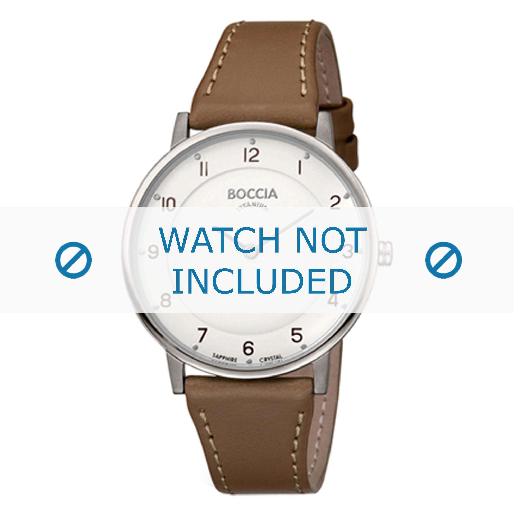 Klockarmband Boccia 3259-01 Läder Brun 18mm