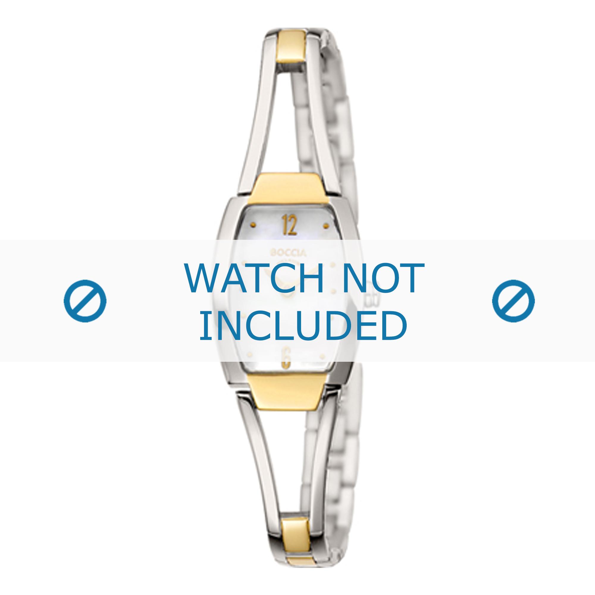 Boccia klockarmband 3262-02 Titan Bi-färg 8mm