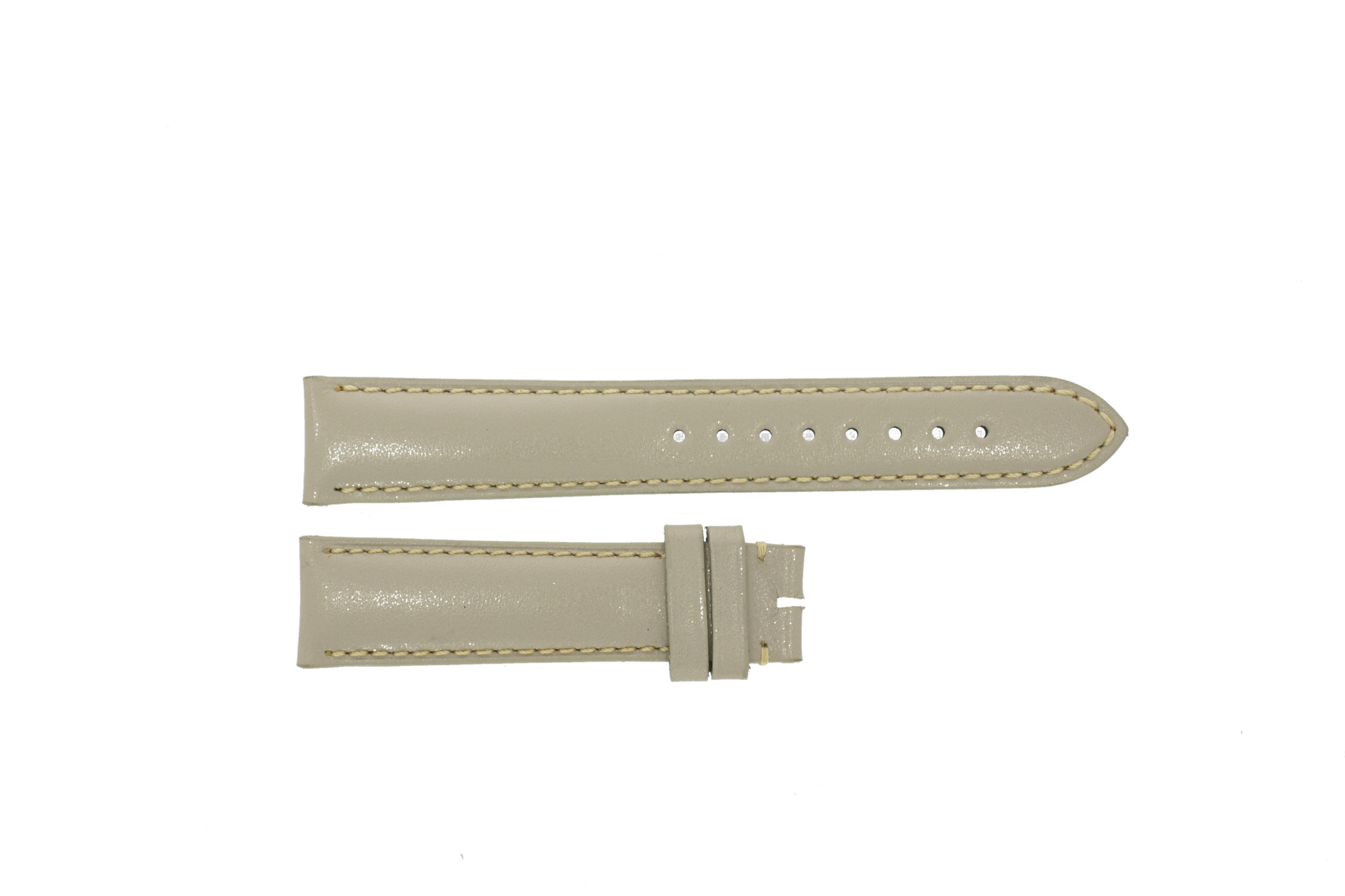 Burberry klockarmband BU9118 Läder Gräddvit / Beige / Elfenben 18mm + default sömmar