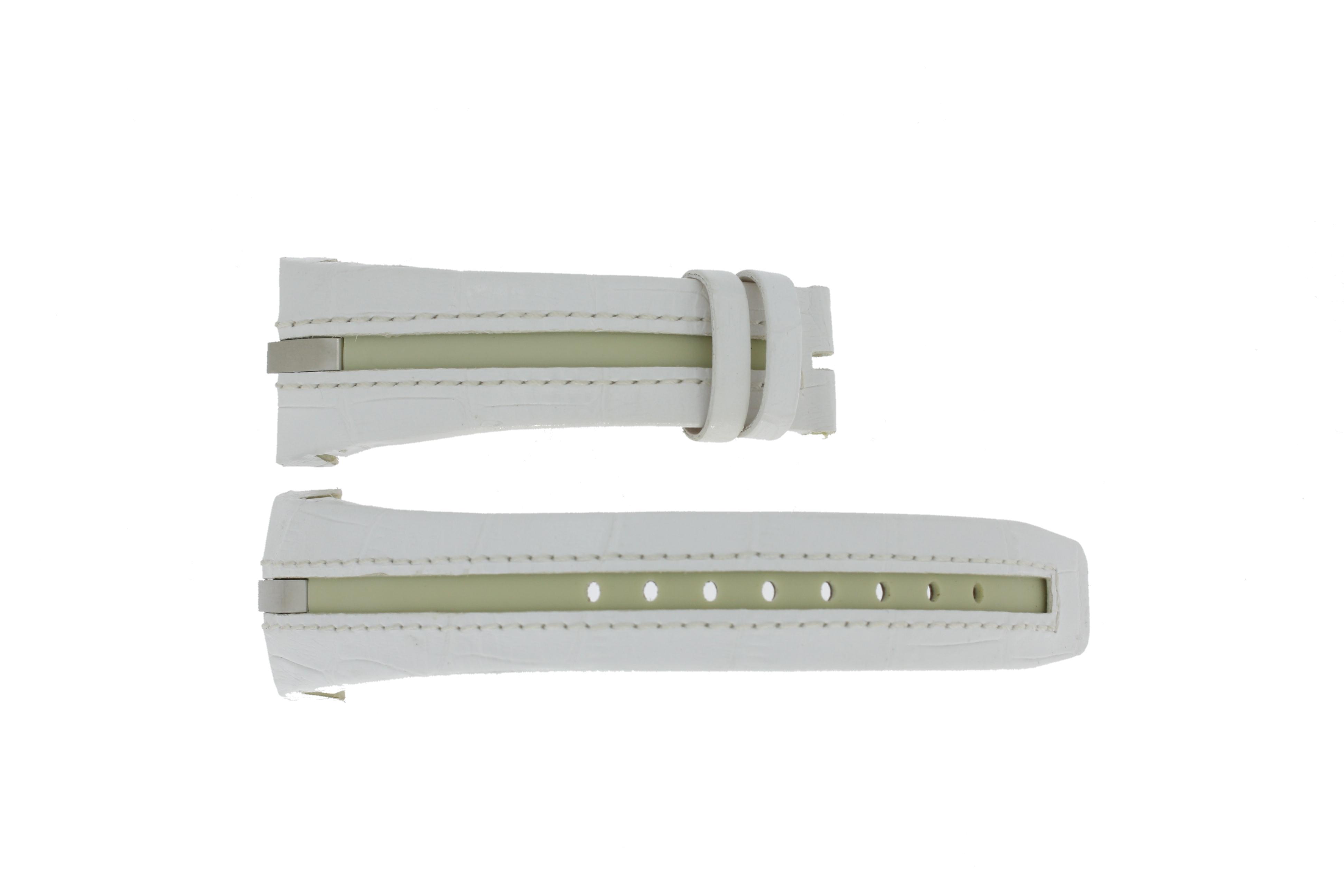 Breil klockarmband BW0472 Läder Vit 25mm + default sömmar