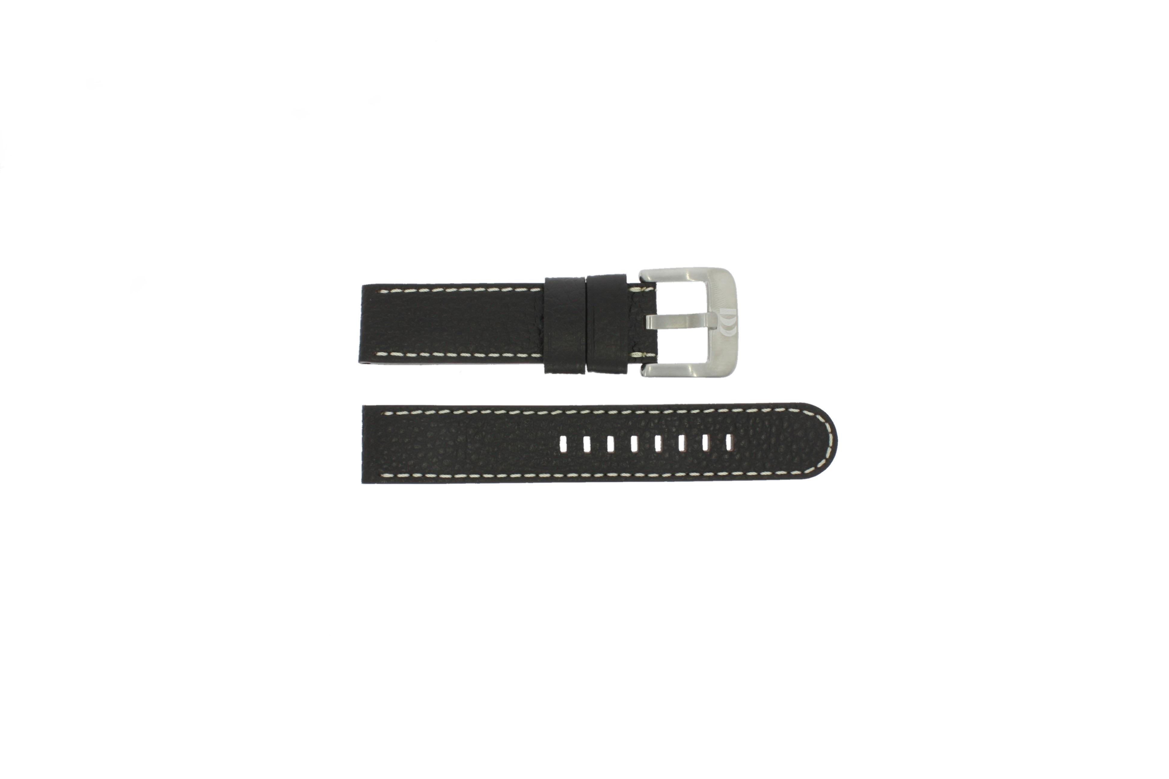 Danish Design klockarmband IQ15Q712 Läder Mörk brun 20mm + sömmar vitt