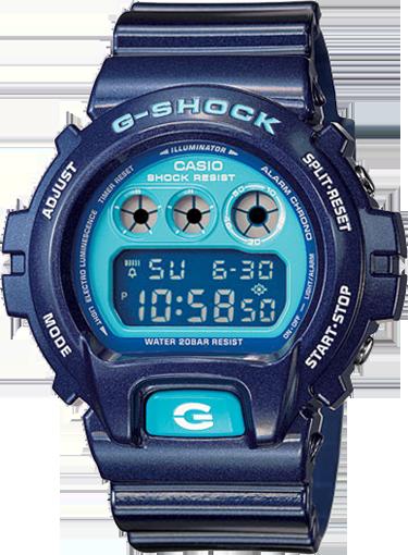 Klockarmband Casio 10332042 / DW-6900CC-2 / G-5600CC-2 Plast Blå 16mm