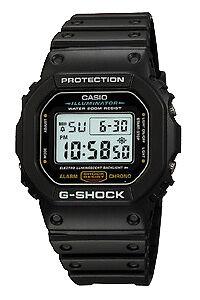 Klockarmband Casio 10303976 / DW-5600CS-1 / DW-6900CS-1 Plast Svart 16mm