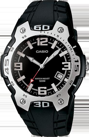 Klockarmband Casio 10257862 / MTR-102-1A1V / MTR-102-7AV Plast Svart 18mm