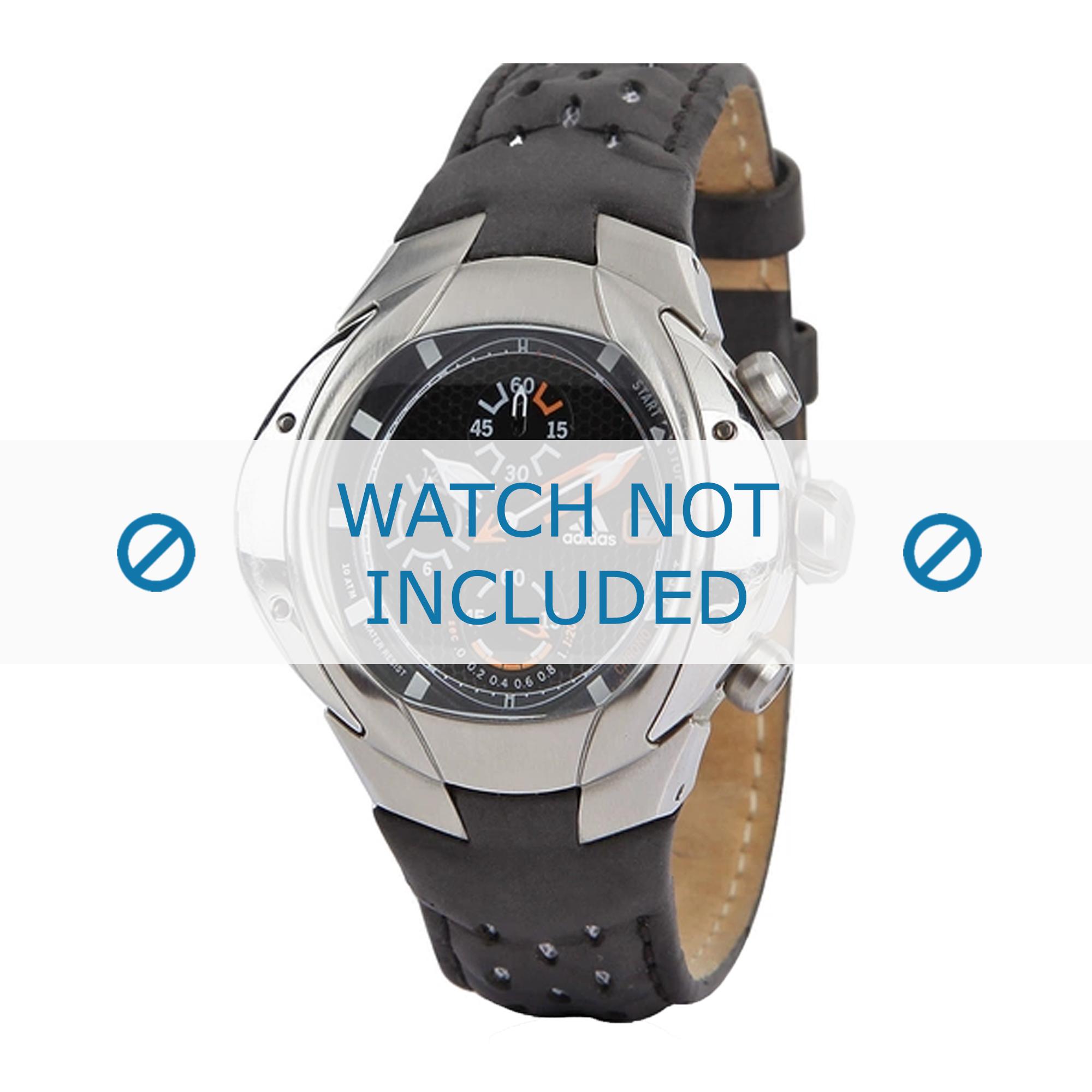 Adidas klockarmband ADP1466 Läder Svart + sömmar svart