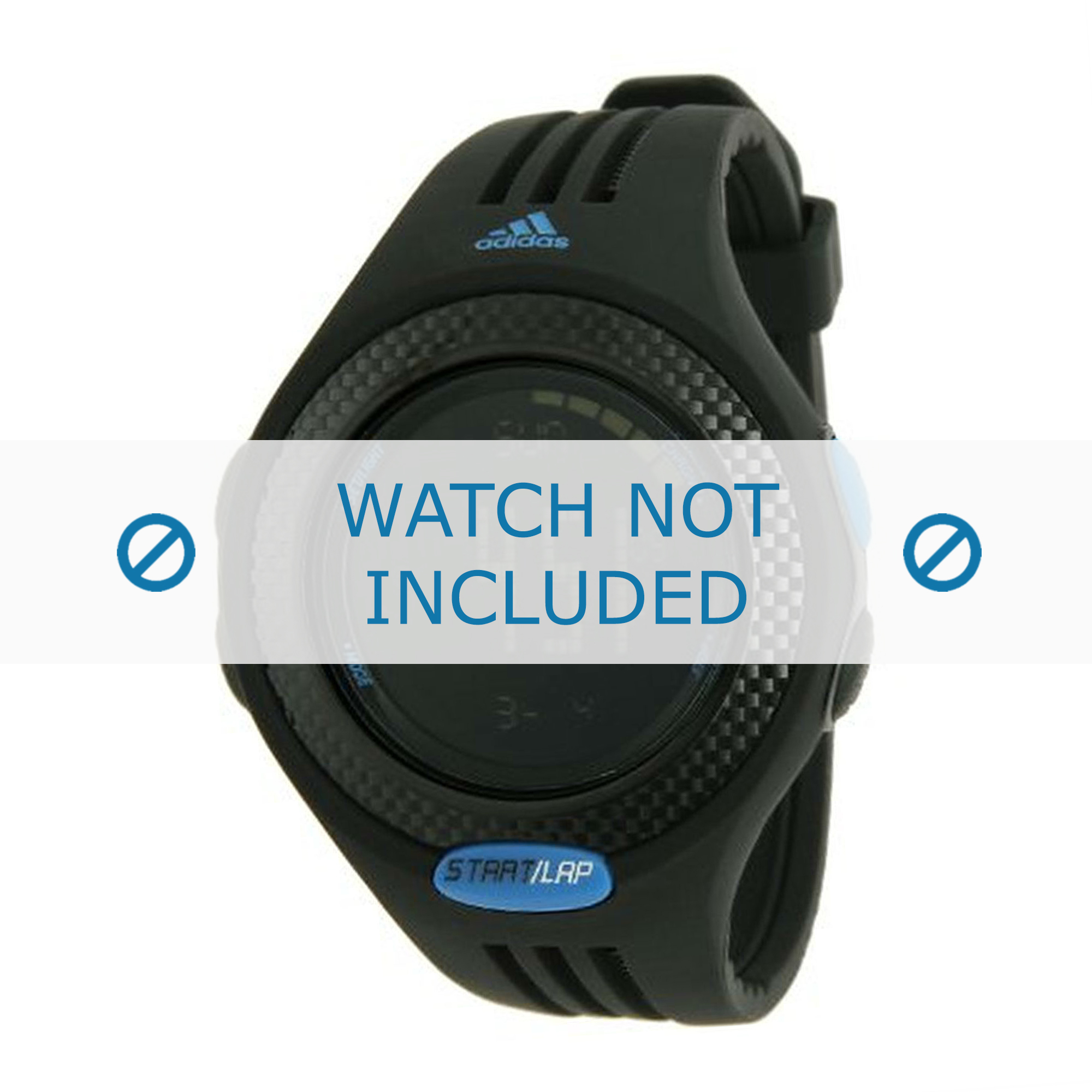 Adidas klockarmband ADP3086 Gummi / plast Svart
