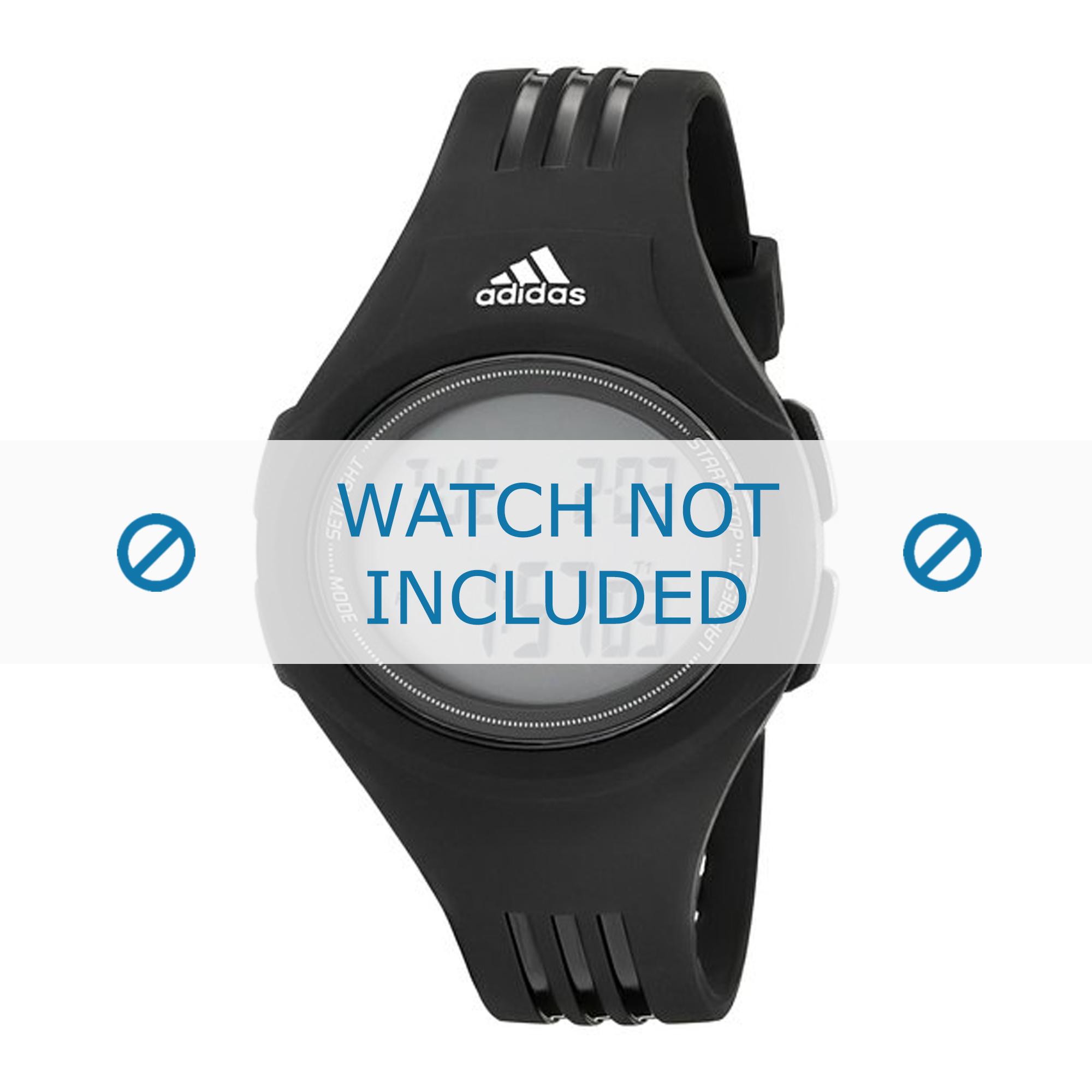 Adidas klockarmband ADP3159 Gummi / plast Svart