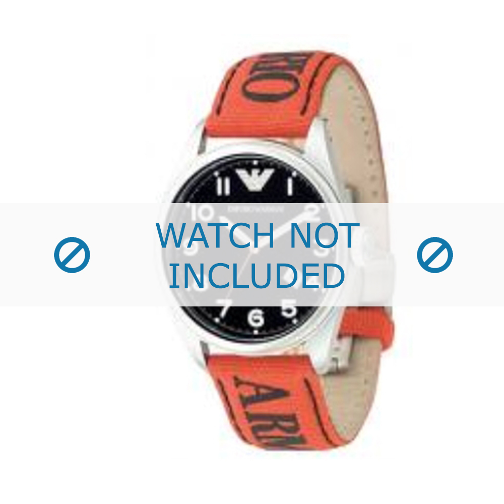 Armani klockarmband AR-0515 Textil Orange 23mm