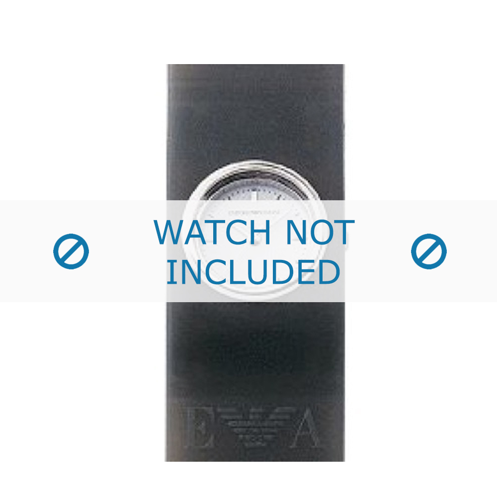 Armani klockarmband AR-1001 Gummi Grå 24mm