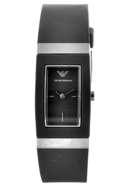 Armani klockarmband AR1503 Gummi / plast Grå