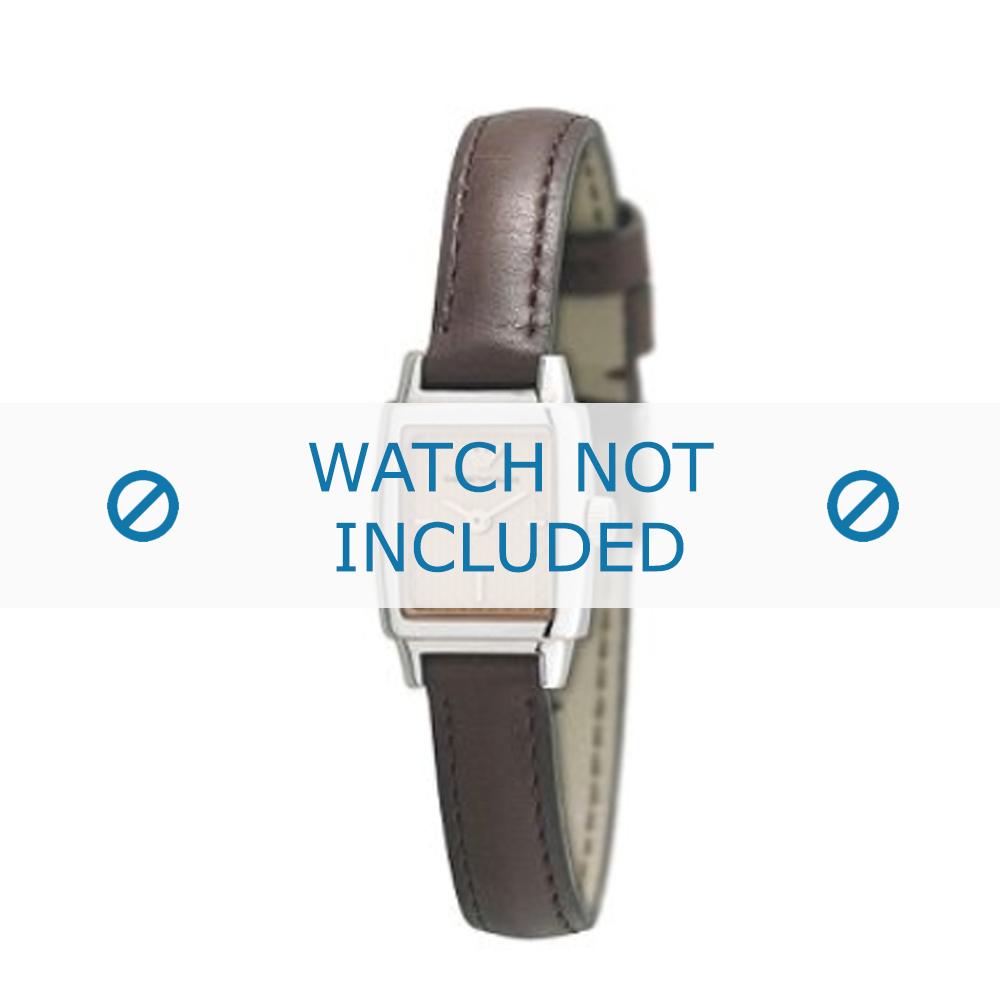 Armani klockarmband AR-5507 Läder Mörk brun 11mm