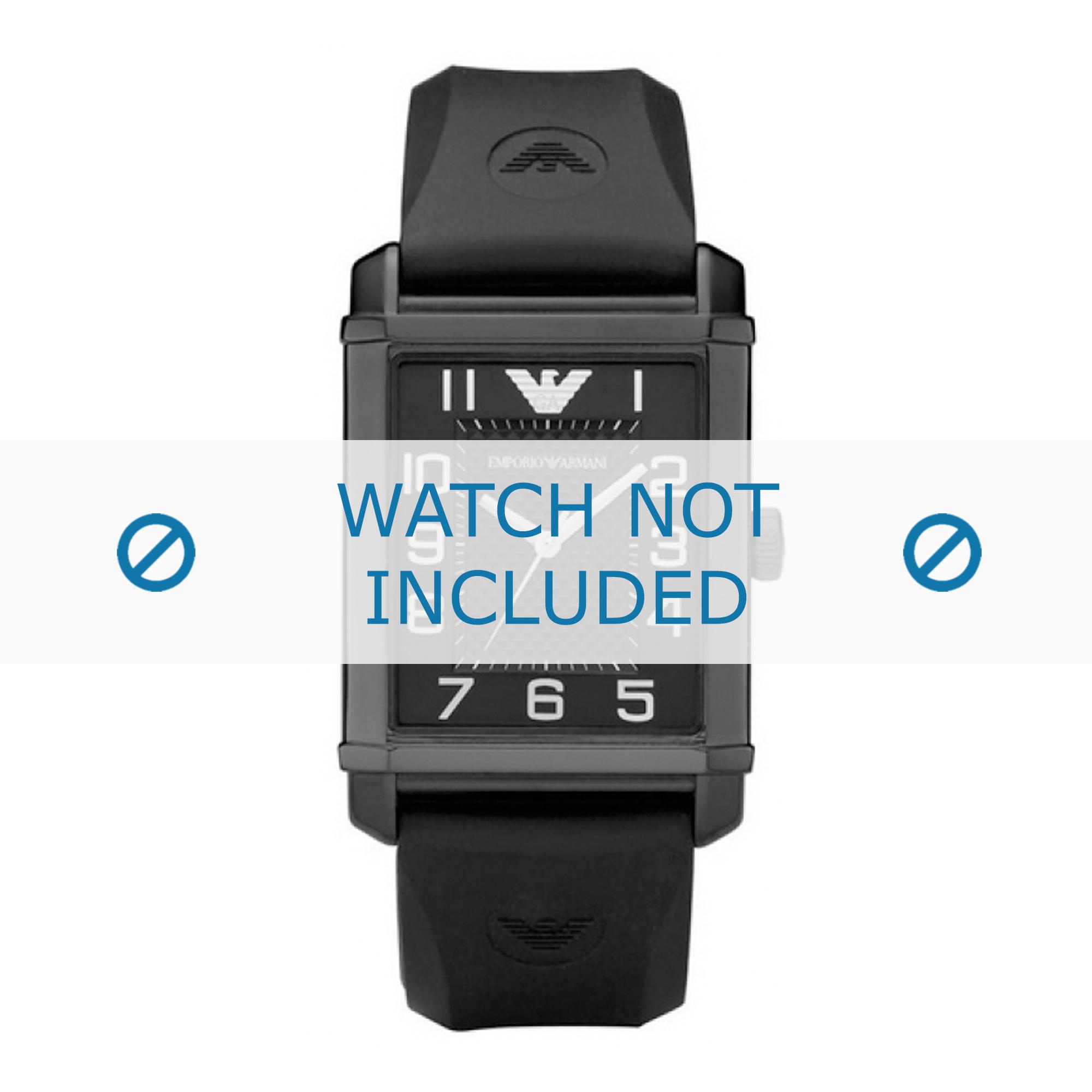 Armani klockarmband AR0499 Silikon Svart 24mm