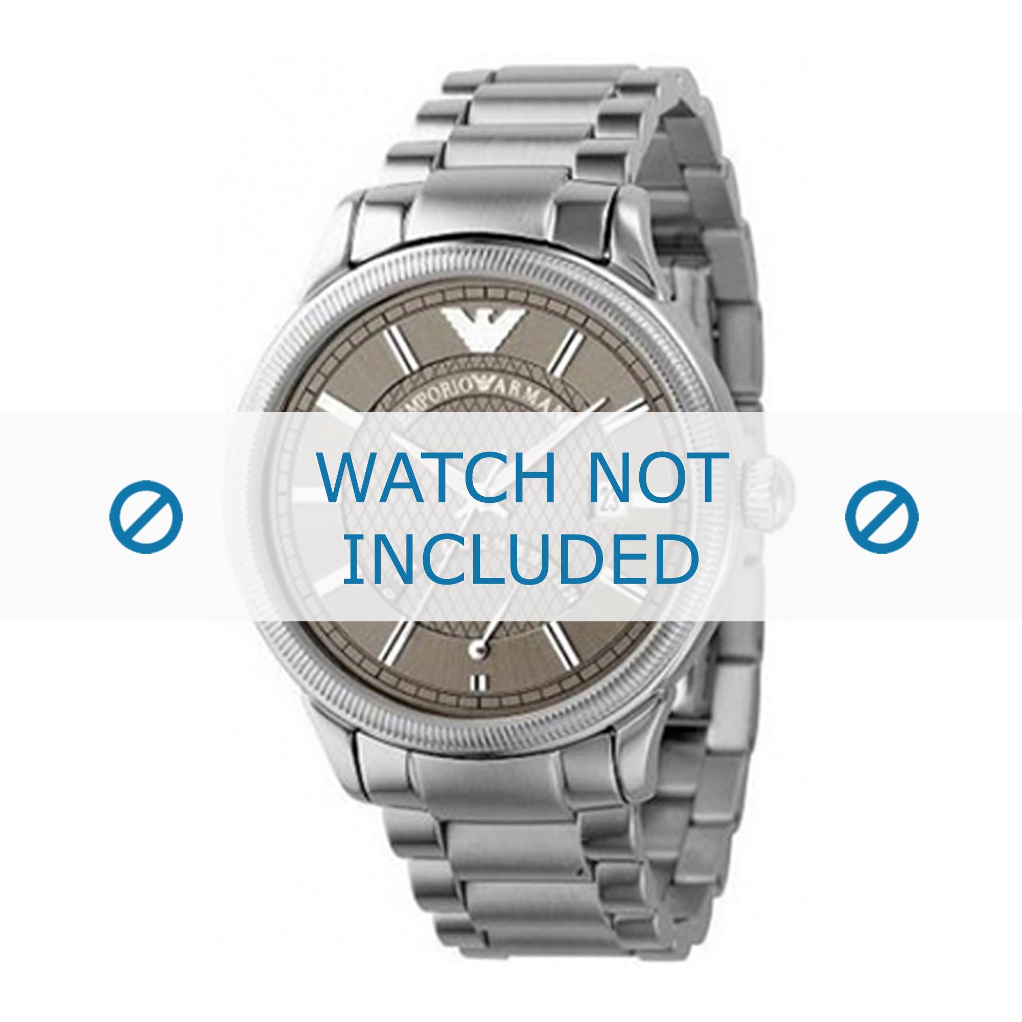 Armani klockarmband AR0563 Rostfritt stål Ilverfärgad 21mm