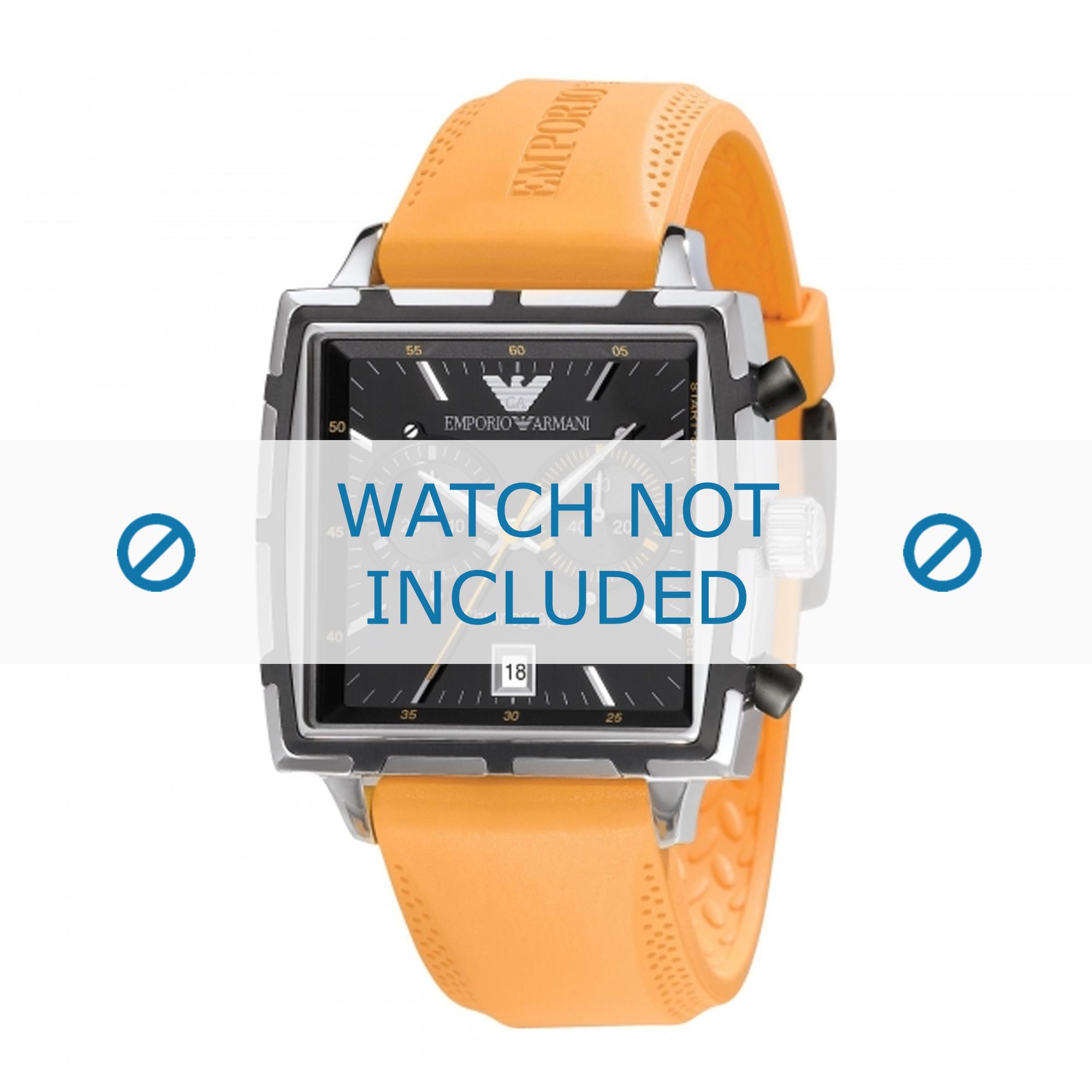 Armani klockarmband AR0594 Silikon Apelsin 23mm
