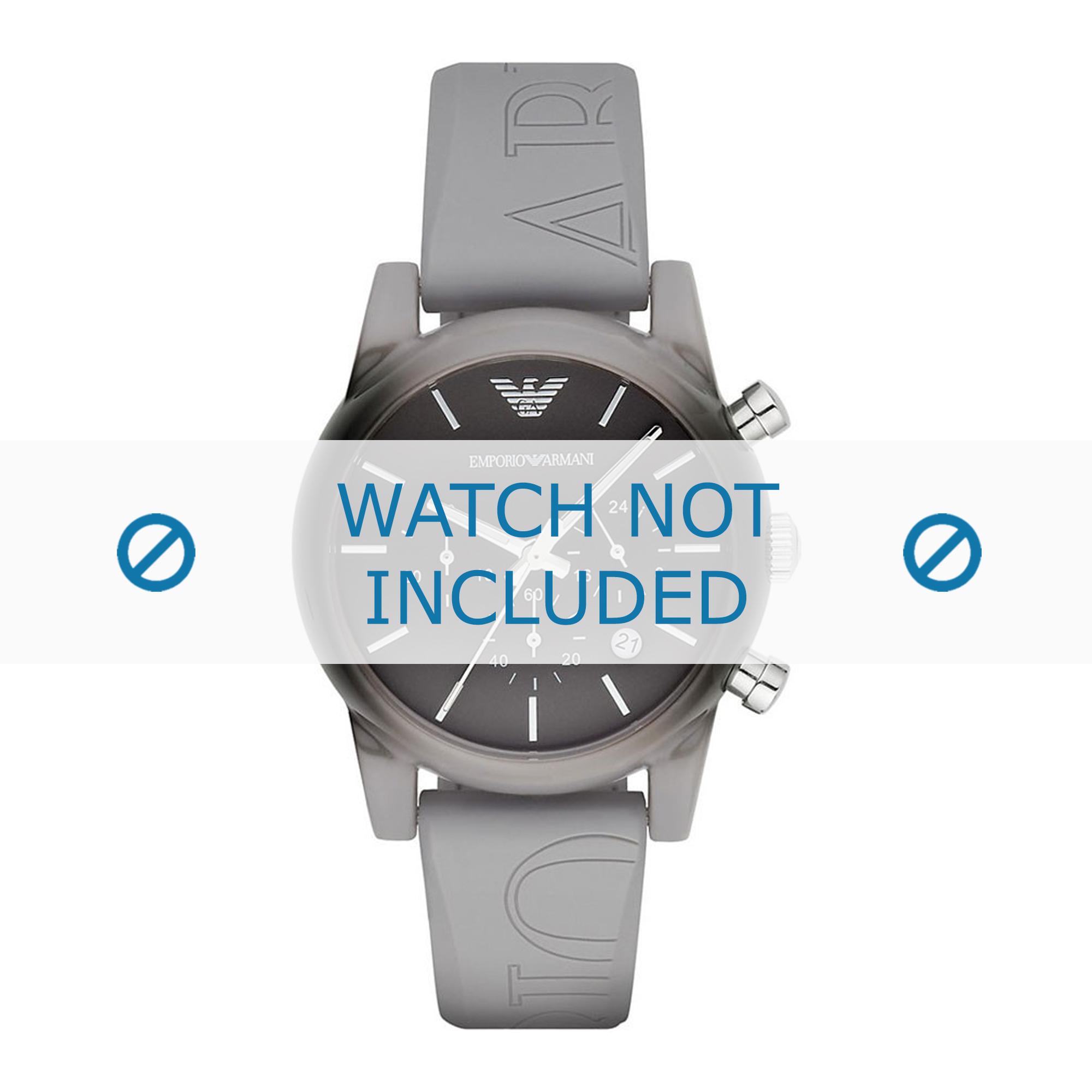 Armani klockarmband AR1063 Silikon Grå 20mm