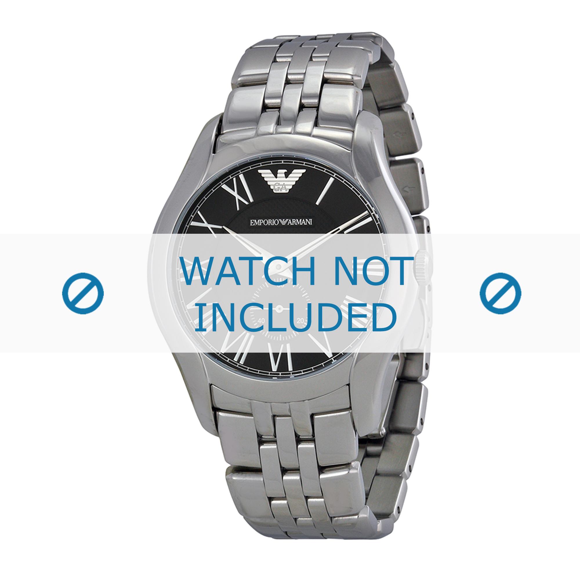 Armani klockarmband AR1706 Rostfritt stål Ilverfärgad 22mm
