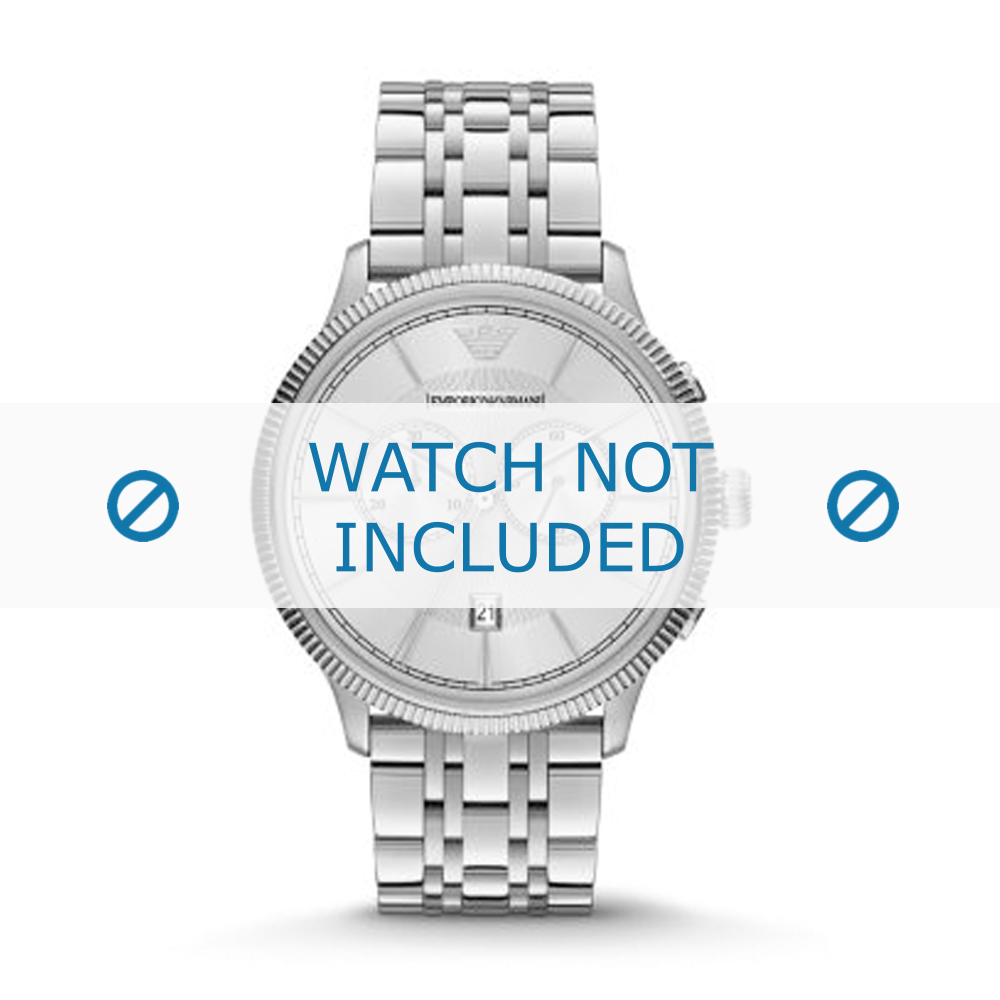 Armani klockarmband AR1796 Rostfritt stål Ilverfärgad 22mm