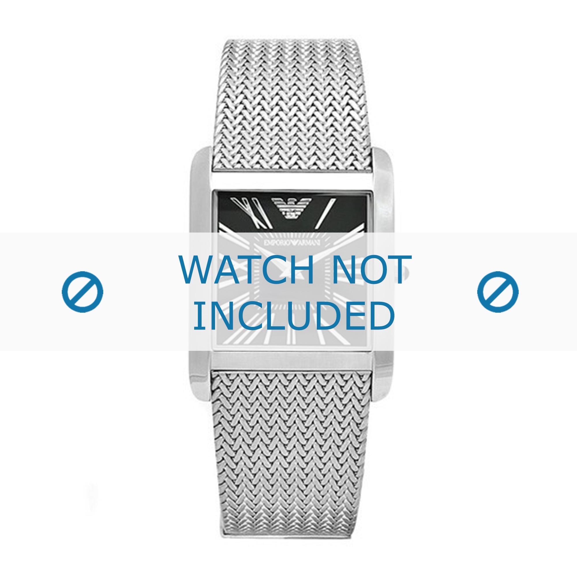 Armani klockarmband AR2013 Metall Ilverfärgad 24mm