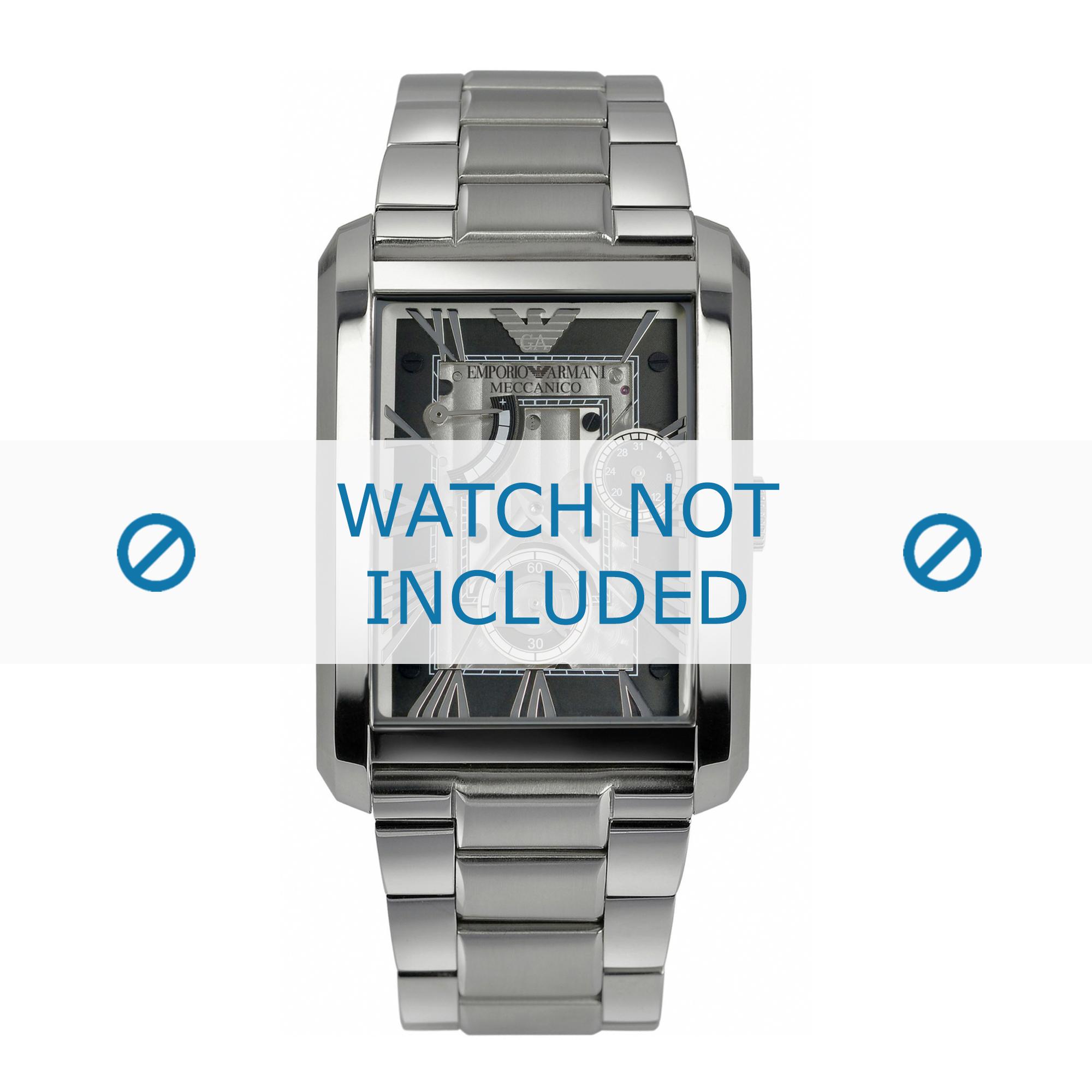 Armani klockarmband AR4246 Rostfritt stål Ilverfärgad 25mm