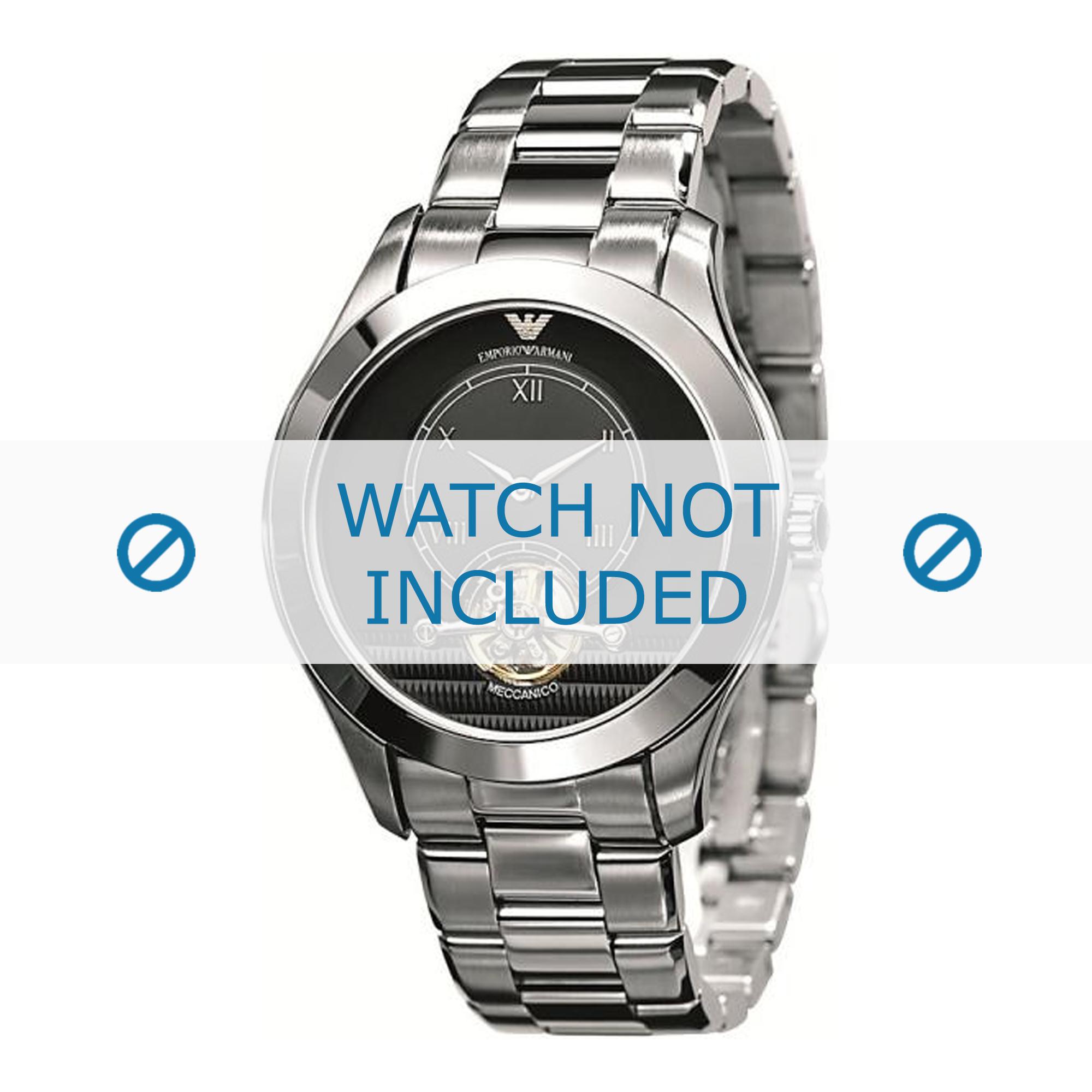 Armani klockarmband AR4639 Metall Ilverfärgad 22mm