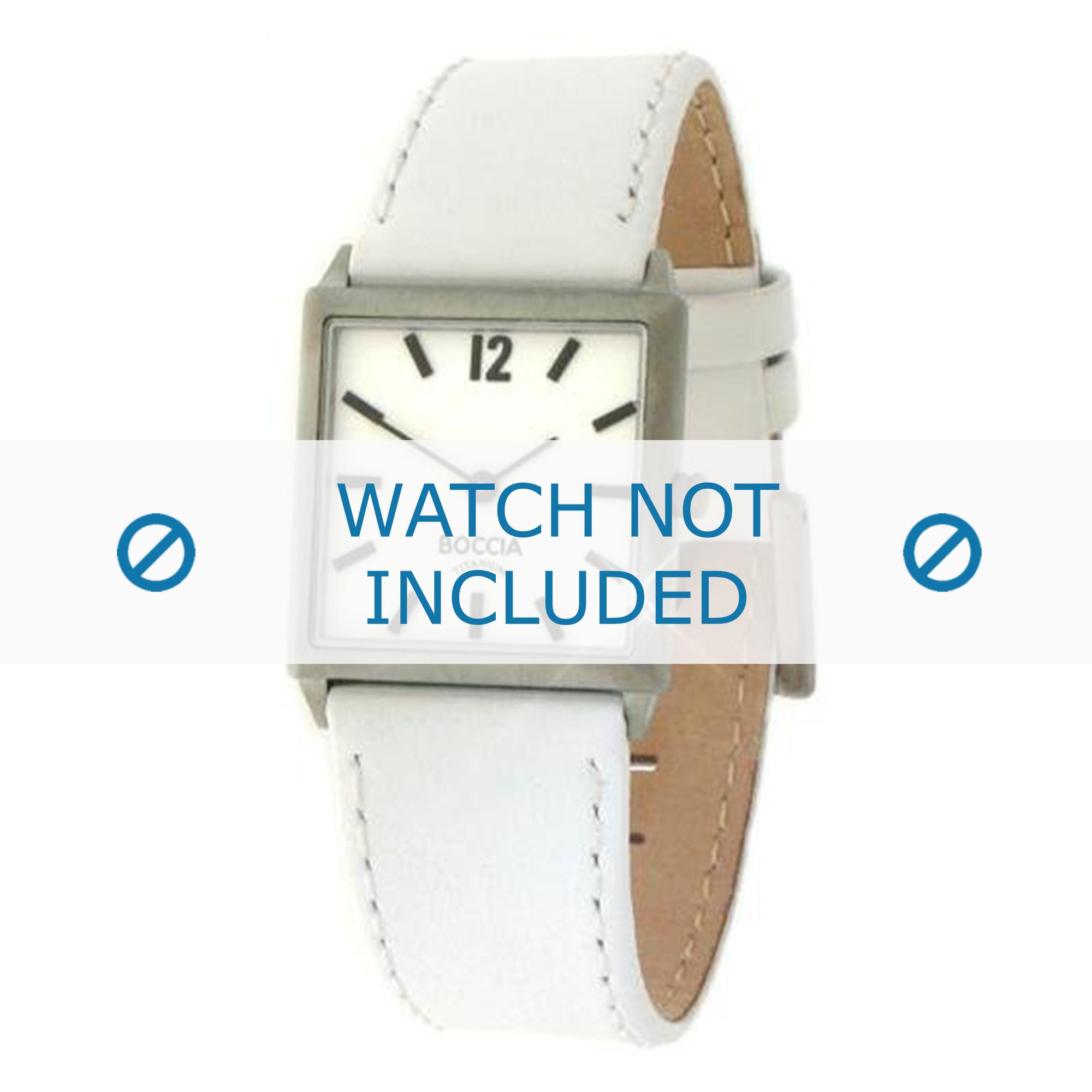 Boccia klockarmband 3115-04 (BO3115-04-40W) Läder Vit + default sömmar