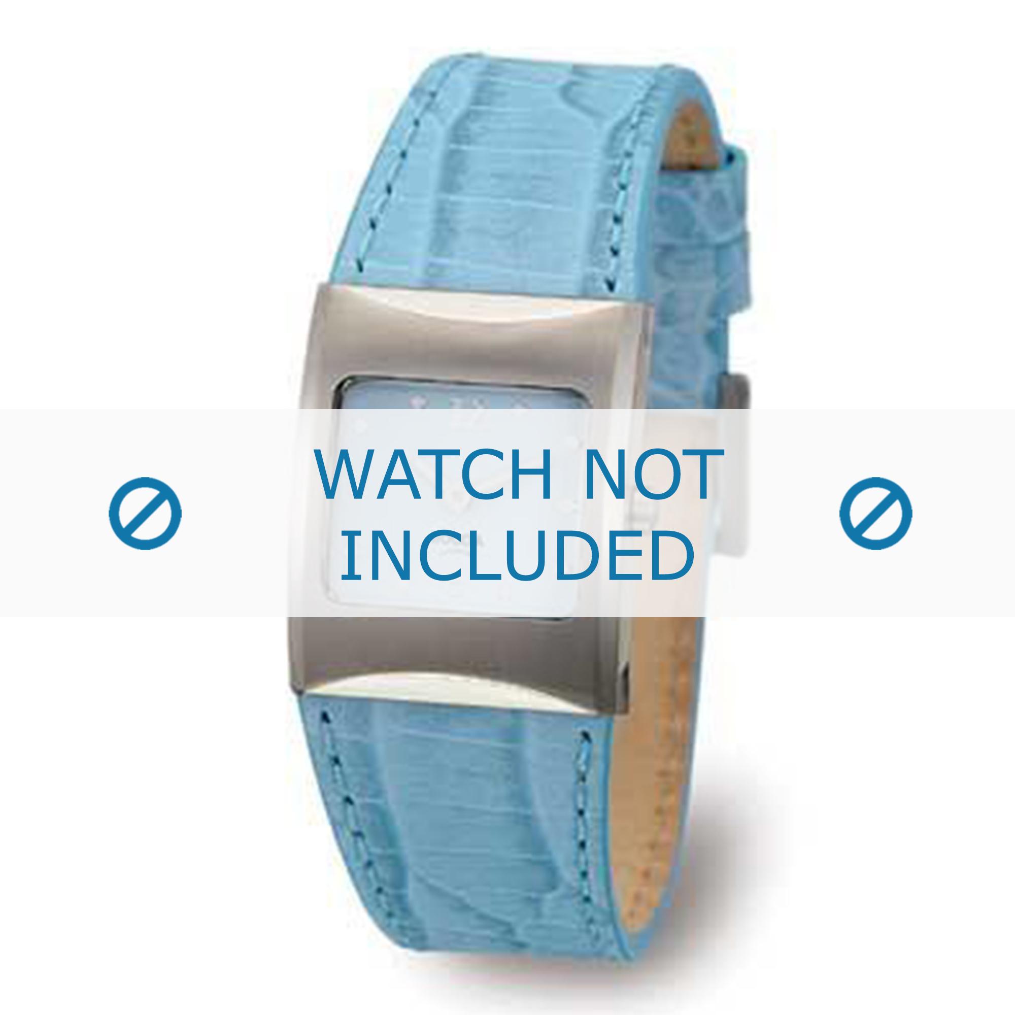 Boccia klockarmband 3120-02 (BO3120-02-40BL) Läder Blå + default sömmar