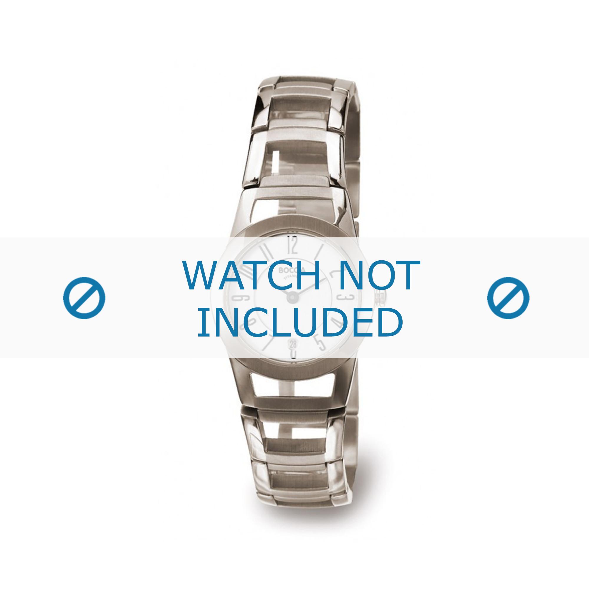Boccia klockarmband 3140-01 Titan Silver 22mm